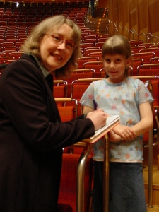 Signing autographs at the Cologne Philharmonie