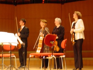 Manon Streichquartet in the Cologne Philharmonie, premiere of Scenes of Childhood