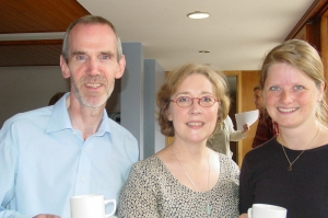Kate with Howard Skempton & Else Torpe at a Cambridge Music Conference