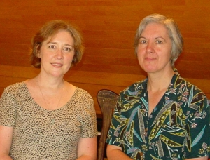 Kate Waring & Judith Weir at the Cambridge Music Conference 2002